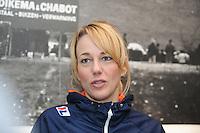 SCHAATSEN: HEERENVEEN: IJsstadion Thialf, 06-02-15, Persbijeenkomst Ireen Wüst, Marianne Timmer, ©foto Martin de Jong