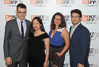 NEW YORK, NY - OCTOBER 01:  Alex Horwitz, Vanessa Nadal and Lin-Manuel attends the 54th New York Film Festival - 'Manchester by the Sea' World Premiere at Alice Tully Hall at Lincoln Center on October 1, 2016 in New York City.Photo Credit: John Palmer/MediaPunch