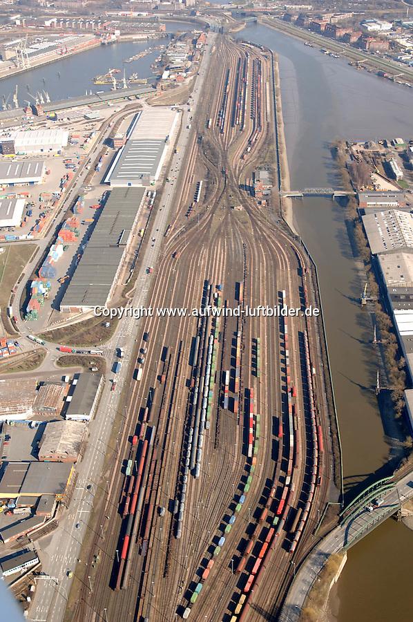 Deutschland, Hamburg, Hafen, Hafenbahnhof Hamburg Sued, Veddeler Damm