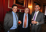 Wales in London Dinner.Jack Parkinson, Wyn Owen & Simon Beynon.Caledonian Club.19.06.12.©Steve Pope