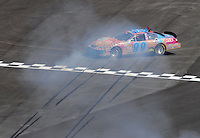 Apr 28, 2007; Talladega, AL, USA; Nascar Busch Series driver David Reutimann (99) spins during the Aarons 312 at Talladega Superspeedway. Mandatory Credit: Mark J. Rebilas