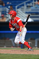 Batavia Muckdogs outfielder Connor Burke (16) during a game against the State College Spikes on June 30, 2013 at Dwyer Stadium in Batavia, New York.  State College defeated Batavia 7-2.  (Mike Janes/Four Seam Images)