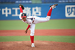 Ristu Okada, JUNE 14, 2015 - Baseball : Ristu Okada of Ryutsu Keizai University throws the ball during the Japan National Colleglate Baseball Championship final match between Waseda University 8-5 Ryutsu Keizai University at Jingu Stadium in Tokyo, Japan. (Photo by Hitoshi Mochizuki/AFLO)