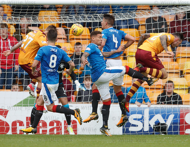 James Tavernier toes Ryan Bowman just as as is about to score...