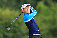 Darragh McGrath (Athlone) on the 1st tee during the Connacht U12, U14, U16, U18 Close Finals 2019 in Mountbellew Golf Club, Mountbellew, Co. Galway on Monday 12th August 2019.<br /> <br /> Picture:  Thos Caffrey / www.golffile.ie<br /> <br /> All photos usage must carry mandatory copyright credit (© Golffile | Thos Caffrey)