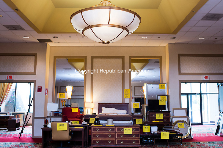 WATERBURY, CT- 27 May 2016-052716EC01-  There are hundreds of bedroom sets, exactly like this sample room shown here, that are on sale. All of the contents of CoCo Key Water Resort Hotel and Convention Center in Waterbury will be liquidated. Erin Covey Republican-American