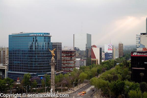La Reforma, Mexico City aerial photograph