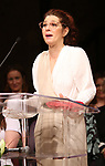 Marisa Tomei on stage at the The Lilly Awards  at Playwrights Horizons on May 22, 2017 in New York City.