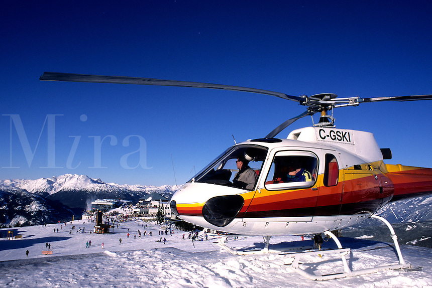 Helicopter Skiing on Whistler Mountains in B.C. Canada