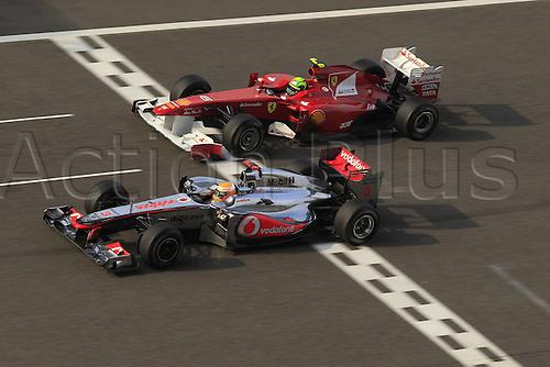 17 04 2011  Motorsports FIA Formula One World Championship 2011 Grand Prix of China 03 Lewis Hamilton GBR Vodafone McLaren Mercedes 06 Felipe Massa BRA Scuderia Ferrari Marlboro