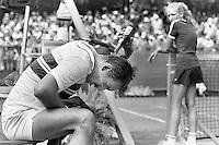 1982, Hilversum, Dutch Open, Melkhuisje, Thomas Smid zoekt verkoeling