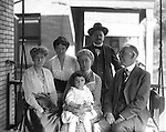 Wilkinsburg PA:  The Stewart and Brady getting together for a family dinner at Brady Stewart's house.  Front row; Madge Brady, Alice Brady Stewart, Helen Stewart, John Brady, Sarah Stewart, Homer Clark Stewart