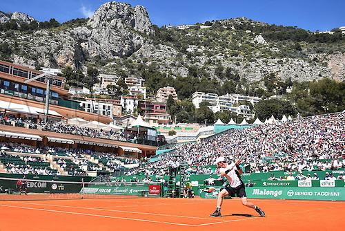 12.04.2016. Monte Carlo, Monaco. Monte Carlo ATP Tennis championships.  Andy Murray (GB)