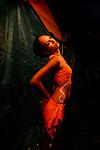 MARINE<br /> Marine Biret en coulisses du Festival de danse de Papara<br /> Compagnie Manahau &agrave; Tahiti le 23/09/2009