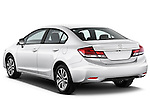 Rear three quarter view of a   2013 Honda Civic Sedan EX Sedan