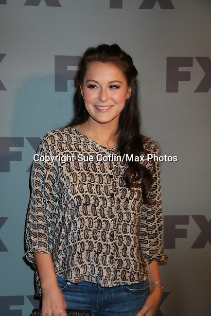 """Alexa Vega is the voice of """"Christina"""" on the FX Unsupervised poses on the red carpet at FX 2012 Ad Sales Upfront held on March 29, 2012 at Lucky Stirke, New York, New York. (Photo by Sue Coflin/Max Photos)"""