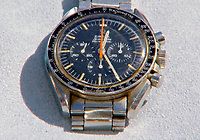 BNPS.co.uk (01202 558833)<br /> Pic: AntiquesRoadshow<br /> <br /> Only 50 'Ultraman' Speedmasters were ever made.<br /> <br /> £40,000 Antiques Roadshow suprise find heads for auction...<br /> <br /> An extremely rare watch a British seaman bought for £35 as a 21st birthday present in the Far East is now tipped to sell for a whopping £40,000.<br /> <br /> There were only 50 red hand 'Ultraman' Speedmasters ever made, and unknown to Roger he had bought one nearly 50 years ago.<br /> <br /> Now retired, Roger Cooper(71) acquired the Omega Speedmaster new while serving in the Merchant Navy on the steamer 'Chitral' in Hong Kong in 1968.<br /> <br /> He spent £35, almost a month's wage at the time, on the timepiece, buying it from a wholesaler he had become friendly with. But it has proved a shrewd investment as it has increased over 1,000 times in value in the intervening five decades.<br /> <br /> Grandfather of two Mr Cooper, from Havant, Hants, has now decided to auction it with Gardiner Houlgate, of Corsham, Wilts.
