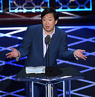 """BEVERLY HILLS - SEPTEMBER 7: Ken Jeong appears onstage at the """"Comedy Central Roast of Alec Baldwin"""" at the Saban Theatre on September 7, 2019 in Beverly Hills, California. (Photo by Frank Micelotta/PictureGroup)"""