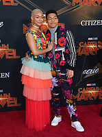 "LOS ANGELES, CA. March 04, 2019: Tati Gabrielle & Chance Perdomo at the world premiere of ""Captain Marvel"" at the El Capitan Theatre.<br /> Picture: Paul Smith/Featureflash"