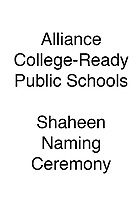 Alliance Shaheen Naming Ceremony