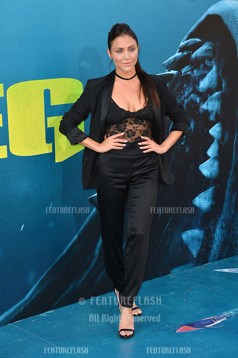 "LOS ANGELES, CA - August 06, 2018: Cassie Scerbo at the US premiere of ""The Meg"" at the TCL Chinese Theatre"
