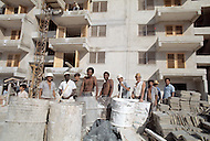 June, 1977. Havana, Cuba. Eighteen years after the Cuban Revolution the first U.S. tourists were permitted to visit Havana. New housing built by the people who inhabit them in Alamare District.