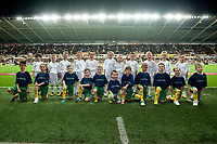 Thursday 24 October 2013  <br /> Pictured:  Mascots <br /> Re:UEFA Europa League, Swansea City FC vs Kuban Krasnodar,  at the Liberty Staduim Swansea