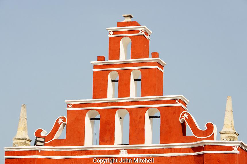 Belfry of the Templo de San Juan de Dios chapel  in Merida, Yucatan, Mexico
