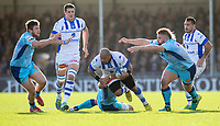 Castres Jody Jenneker in action during todays match<br /> <br /> Photographer Bob Bradford/CameraSport<br /> <br /> European Rugby Heineken Champions Cup Pool 2 - Exeter Chiefs v Castres - Sunday 13th January 2019 - Sandy Park - Exeter<br /> <br /> World Copyright &copy; 2019 CameraSport. All rights reserved. 43 Linden Ave. Countesthorpe. Leicester. England. LE8 5PG - Tel: +44 (0) 116 277 4147 - admin@camerasport.com - www.camerasport.com