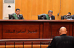 An Egyptian Judge attends the trial of ousted Egyptian president Mohammed Morsi, during the 'Qatar espionage' case, in a court in Cairo on Feb. 13, 2016. The defendants are accused of 'leaking important national security documents and information on the Egyptian armed forces' to Qatar, through the Qatari-based al-Jazeera news network. The leaks allegedly happened during Morsi's spell as president between 2012 and 2013. Photo by Stranger
