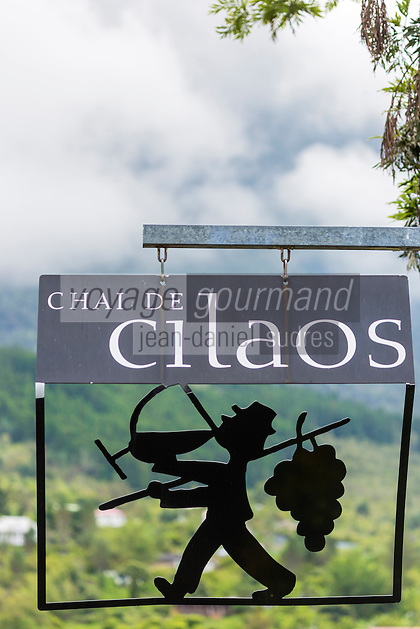 France, &icirc;le de la R&eacute;union, Parc national de La R&eacute;union, class&eacute; Patrimoine Mondial de l'UNESCO, Cirque de CIlaos, Cilaos: Enseigne du Chai de Cilaos, Le Cilaos est un vin de pays,  vin de montagne produit dans le cirque de Cilaos, &agrave; la R&eacute;union. C'est l'un des seuls vins fran&ccedil;ais produits dans l'h&eacute;misph&egrave;re sud. Il b&eacute;n&eacute;ficie d'une IGP.<br />     //  France, Reunion island (French overseas department), Parc National de La Reunion (Reunion National Park), listed as World Heritage by UNESCO, cirque of Cilaos,  Cilaos: Teaches Chai Cilaos, The Cilaos is a wine country, mountain wine produced in Cilaos, Reunion. This is one of the only French wines produced in the southern hemisphere. It enjoys an IGP.