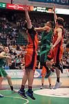 League ACB-ENDESA 2017/2018. Game: 30.<br /> Divina Seguros Joventut vs Valencia Baket Club: 77-75.<br /> Demitrius Conger &amp; Aaron Doomekamp.