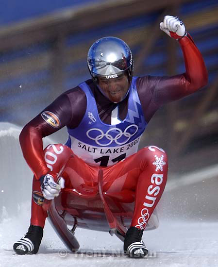 Final round, Mens Luge, Monday morning at the Utah Olympic Park, 2002 Olympic Winter Games.; 02.11.2002, 12:54:05 PM<br />