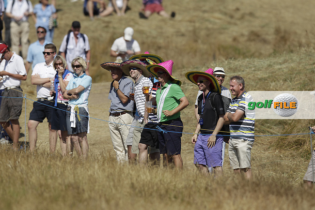 fans with sombreros during round two of  The 142th Open Championship Muirfield, Gullane, East Lothian, Scotland 19/7/2013<br /> Picture Eoin Clarke www.golffile.ie: