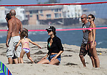July 22nd 2012 <br /> <br /> Alessandra Ambrosio in bikini playing beach Volley Ball in Malibu California with friends. They all took pictures with Alessandra &amp; her daughter Anja running laughing making funny faces <br /> <br /> <br /> <br /> AbilityFilms@yahoo.com<br /> 805 427 3519<br /> www.AbilityFilms.com