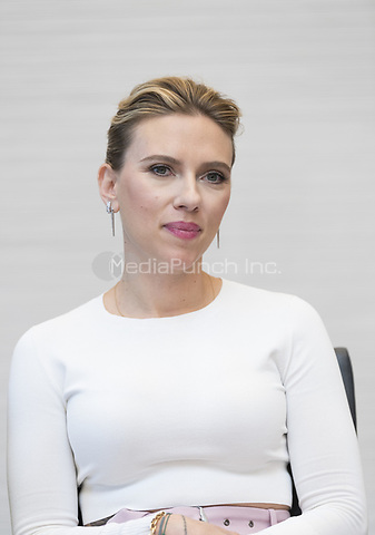 """Scarlett Johansson, who stars in 'Avengers: Endgame"""", at the InterContinental Hotel in Los Angeles. Credit: Magnus Sundholm/Action Press/MediaPunch ***FOR USA ONLY***"""