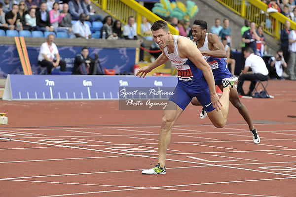 Andrew Pozzi wins the Mens 110m hurdles and so gets a ticket to Rio Olympics. British Athletics Championships. Alexander Stadium. Birmingham. UK. 26/06/2016. ~ MANDATORY CREDIT Garry Bowden/SIPPA - NO UNAUTHORISED USE - +447837 394578
