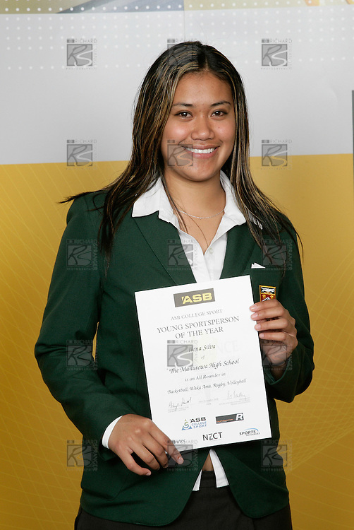 Ilona Silva, The Manurewa High School, All Rounder - Basketball, Waka Arna, Rugby, Volleyball. ASB College Sport Young Sportsperson of the Year Awards 2006, held at Eden Park on Thursday 16th of November 2006.<br />
