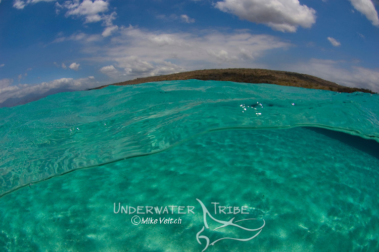 Shallow water under overs, Menjangan Island National Park, Pemuteran, Bali, Indonesia, Pacific Ocean