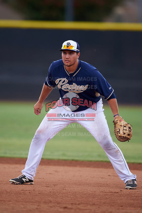 San Diego Padres Brad Zunica (86) during practice before an instructional league game against the Milwaukee Brewers on October 6, 2015 at the Peoria Sports Complex in Peoria, Arizona.  (Mike Janes/Four Seam Images)