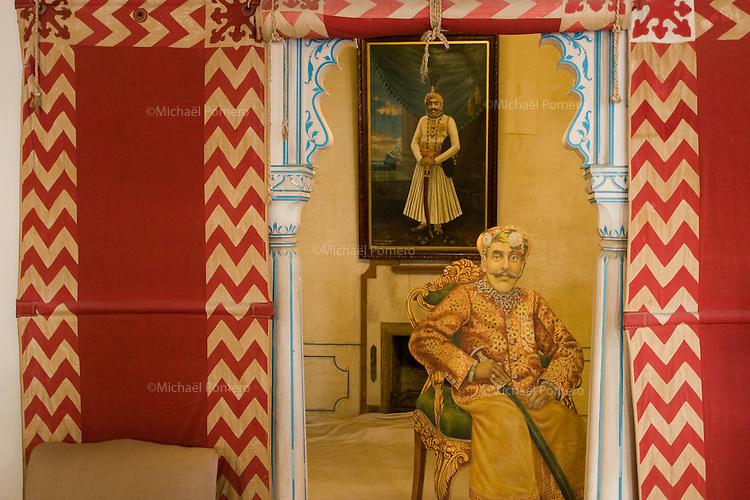 26.11.2010 Udaipur (Rajasthan)<br /> <br /> Painting of the city palace.<br /> <br /> Peinture dans le palais de la ville.