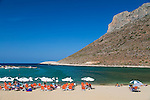 "Stavros Beach, made famous by Anthony Quinn the film, ""Zorba the Greek."" Crete, Greece, Europe"