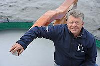 ZEILEN: LEMMER: Skûtsje Lemmer, Schipper Albert Visser, ©foto Martin de Jong