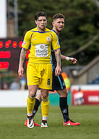 Josh Windass of Accrington Stanley during the Sky Bet League 2 match between Wycombe Wanderers and Accrington Stanley at Adams Park, High Wycombe, England on the 30th April 2016. Photo by Liam McAvoy / PRiME Media Images.