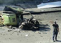 2001-6-21, Donostia..ETA´s car bomb in the Basque city of Donostia / San Sebastian..Argazkia/Photo. Ander Gillenea