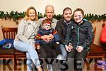 Brenda O'Regan, Frank O'Connor, Alan O'Regan O'Connor, Alan O'Connor and Shauna O'Regan O'Connor enjoying the Kerins O'Rahillys children's Christmas party in the club on Sunday.