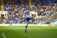 John Swift of Reading celebrates after scoring to make the score 1-1 during Reading vs Wigan Athletic, Sky Bet EFL Championship Football at the Madejski Stadium on 9th March 2019