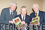 Renowned journalist and writer Donal Hickey launched the new Fossa and Aghadoe 'Our History and Heritage' book in the Travel Inn Fossa on Sunday evening l-r: Michael Spillane, Donal Hickey and Michael Doyle ......