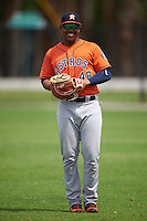 Houston Astros Dexture McCall (48) warms up before a minor league Spring Training game against the Detroit Tigers on March 30, 2016 at Tigertown in Lakeland, Florida.  (Mike Janes/Four Seam Images)