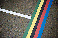 UCI rainbow start line<br /> <br /> UCI 2016 cyclocross World Championships